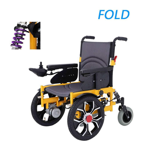 HATHOR-23 Foldable and Lightweight Wheelchair Automatic Movement, Thick Leg Support Brake Travel Wheelchair, with Remote Control to Cope with Various Roads, Net Weight 21KG - Wheelchairs electric  -Rollators - Medical supply stores