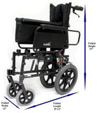 Transport Wheelchair , KM-5000 Transport – 33 lbs,KM5000F-TP-16 - Wheelchairs electric  -Rollators - Medical supply stores