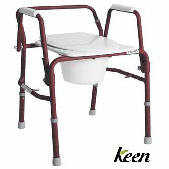 Natural™ Drop Arm 3 in 1 Commode Burgundy 250lb Cap, Model - NSC-310-R - Wheelchairs electric  -Rollators - Medical supply stores