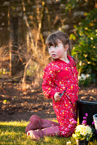 'Flower Meadow' Children's Boilersuit