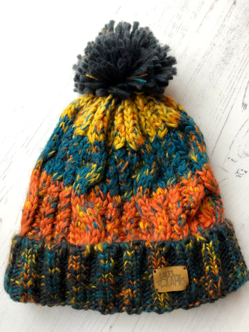 'Autumn Leaves' Knitted Hat