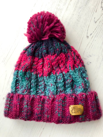 'Winter Berries' Knitted Hat