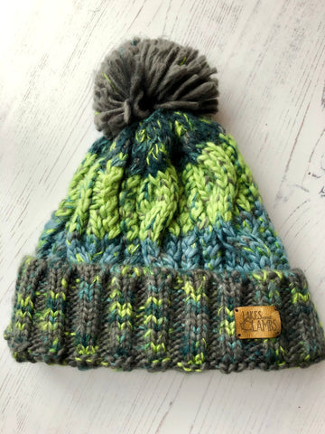 'Northern Lights' Knitted Hat