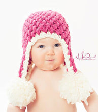 Load image into Gallery viewer, earflap hat crochet pattern