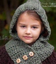 Load image into Gallery viewer, hooded scarf crochet pattern