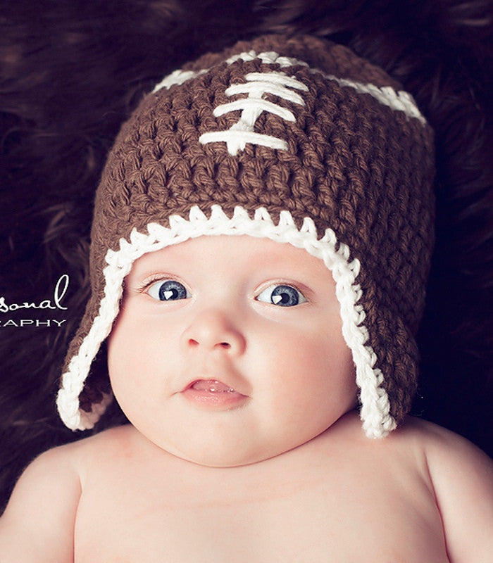crochet football hat pattern