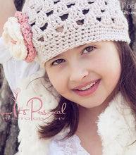 Load image into Gallery viewer, crochet beanie and flower pattern