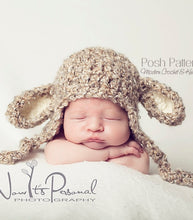 Load image into Gallery viewer, crochet pattern lamb hat