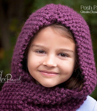 Load image into Gallery viewer, hooded scarf knitting pattern