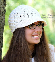 Load image into Gallery viewer, cross stitch crochet hat pattern