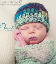 Load image into Gallery viewer, crochet hat pattern beginner