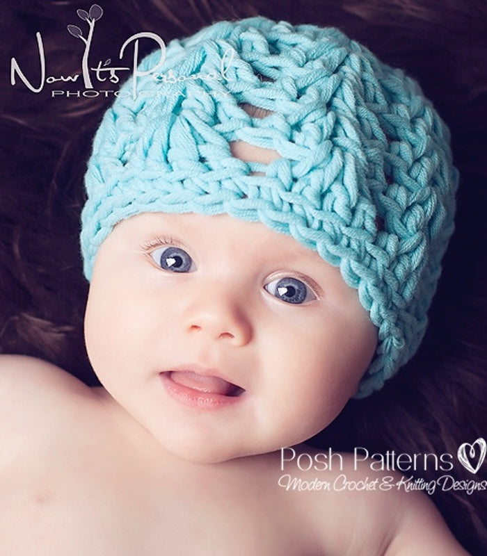 Crochet Pattern Chunky Lace Hat Crochet Pattern