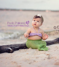 Load image into Gallery viewer, crochet pattern mermaid tail
