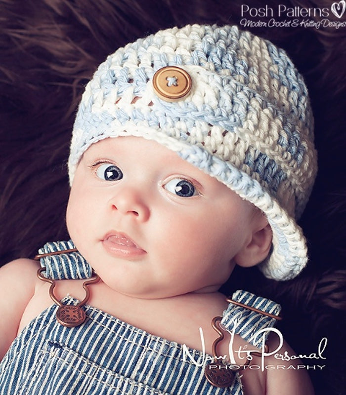 Crochet Pattern Easy Crochet Newsboy Hat Pattern Posh Patterns