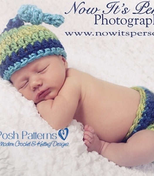 crochet pattern baby hat and diaper cover
