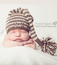 Load image into Gallery viewer, knit pixie hat pattern
