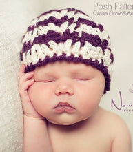 Load image into Gallery viewer, crochet ripple hat pattern