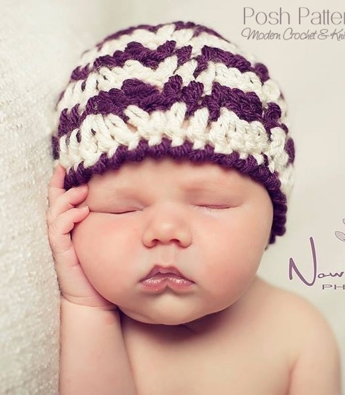 crochet ripple hat pattern