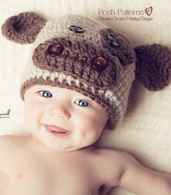 Load image into Gallery viewer, crochet cow hat pattern