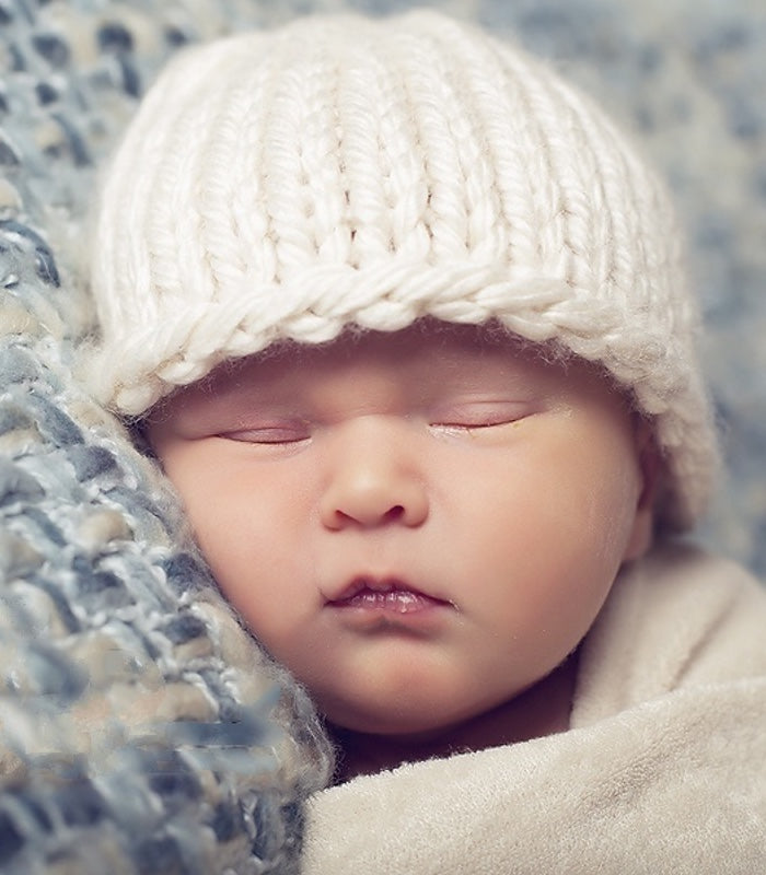 Knitting PATTERN - Easy Knit Baby Beanie Pattern