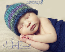 Load image into Gallery viewer, easy knit baby beanie