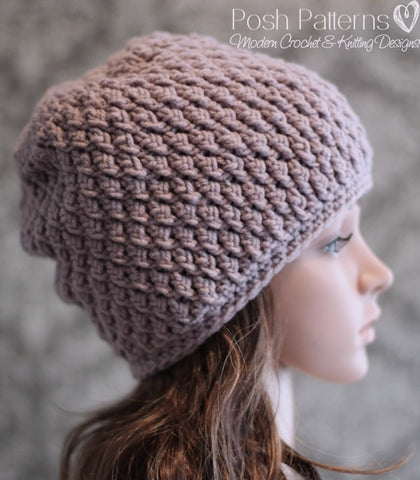 crochet cable slouchy hat pattern