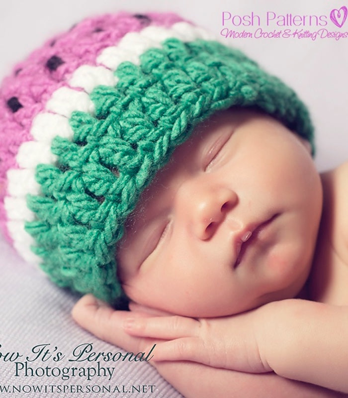 crochet watermelon hat pattern