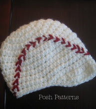 Load image into Gallery viewer, crochet baseball hat pattern