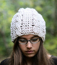 Load image into Gallery viewer, crochet cable hat pattern