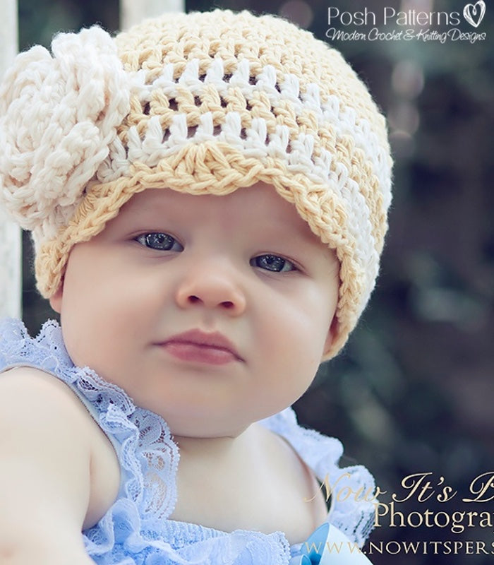 Crochet Pattern Scalloped Baby Hat Crochet Pattern