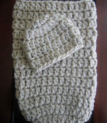 crochet pattern cocoon and hat