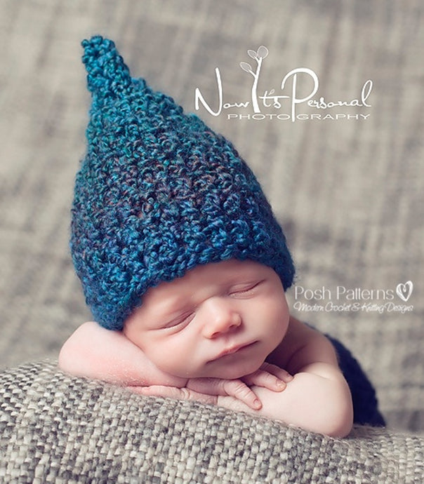 baby pixie gnome hat crochet pattern
