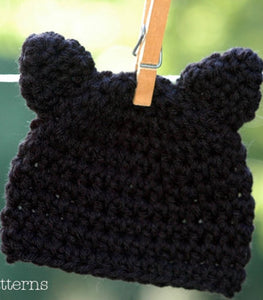 CROCHET PATTERN - Crochet Kitty Cat Hat Pattern – Posh Patterns 80f9edb435b