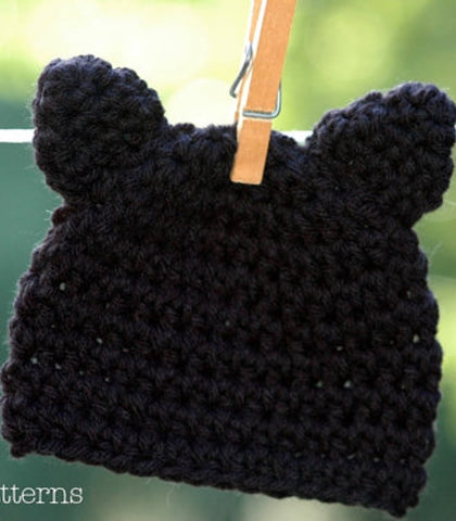 crochet pattern kitty cat hat