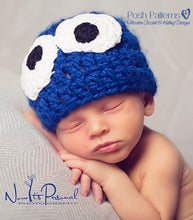 Load image into Gallery viewer, crochet pattern baby monster hat