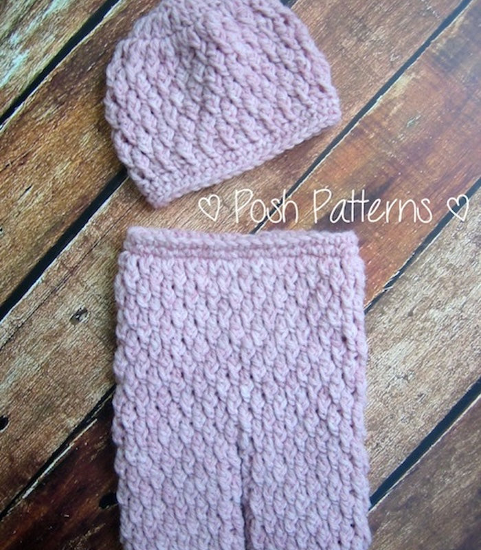 Crochet Pattern Cable Baby Pants Pattern And Hat