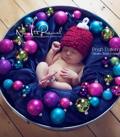 crochet pattern Christmas ornament hat