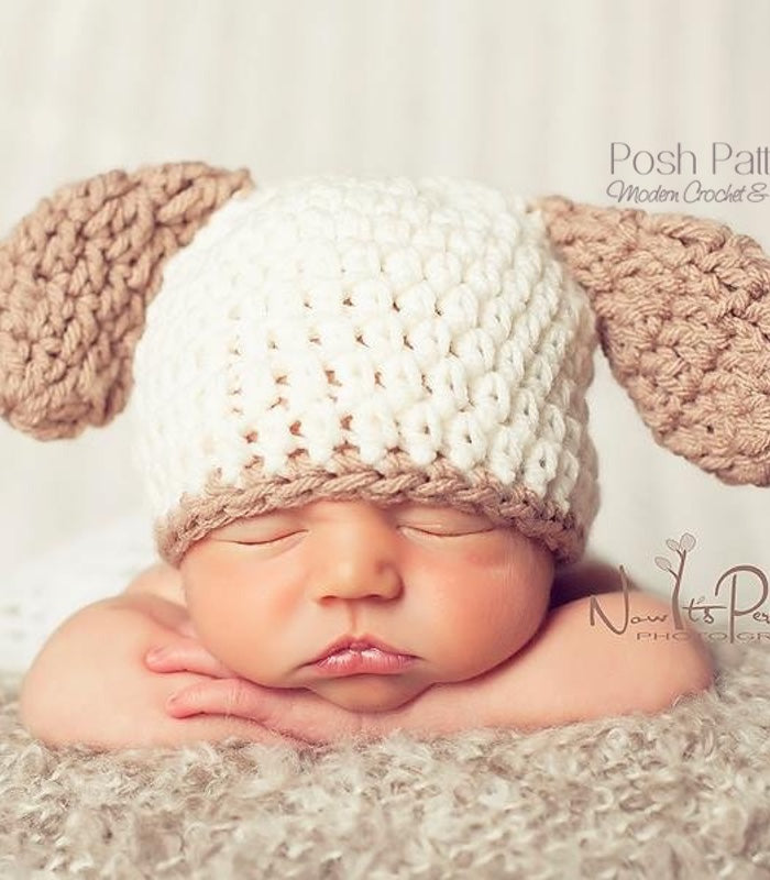 crochet pattern puppy hat