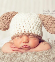 Load image into Gallery viewer, crochet pattern puppy hat