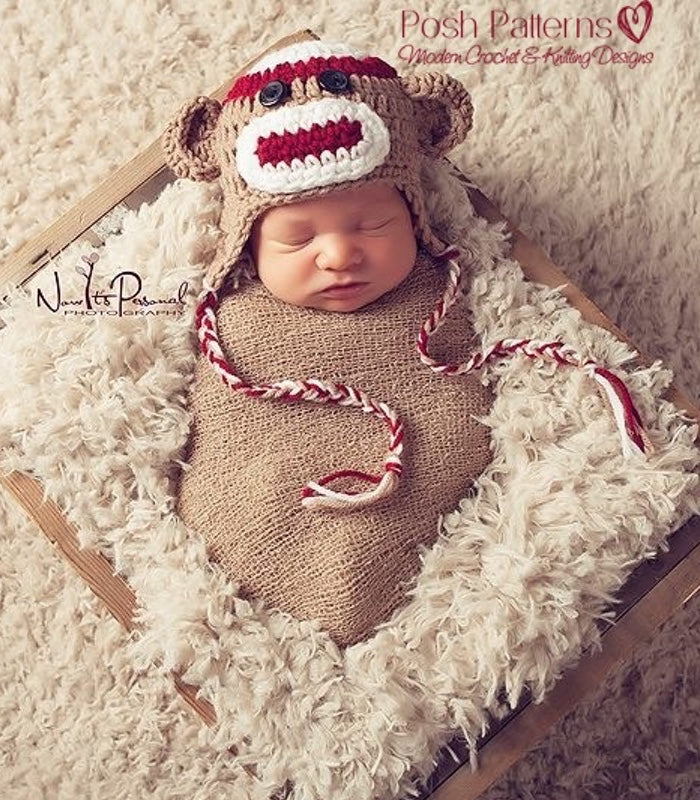 Crochet pattern crochet sock monkey hat pattern crochet sock monkey hat dt1010fo