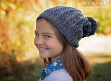 Load image into Gallery viewer, knit slouchy hat pattern