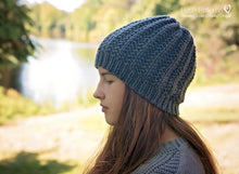 Load image into Gallery viewer, easy knit hat pattern
