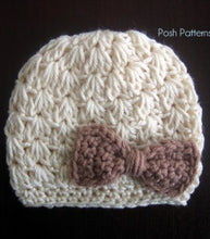 Load image into Gallery viewer, crochet pattern hat and bow