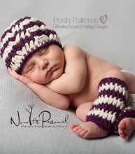 Load image into Gallery viewer, crochet hat and leg warmers pattern