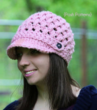 Load image into Gallery viewer, crochet pattern cross stitch hat