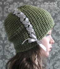 Load image into Gallery viewer, ladies slouchy hat crochet pattern