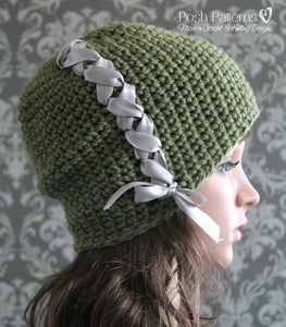 ladies slouchy hat crochet pattern