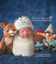 Load image into Gallery viewer, Rudolph bumble hat crochet pattern