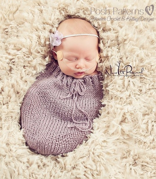knit swaddle sack pattern