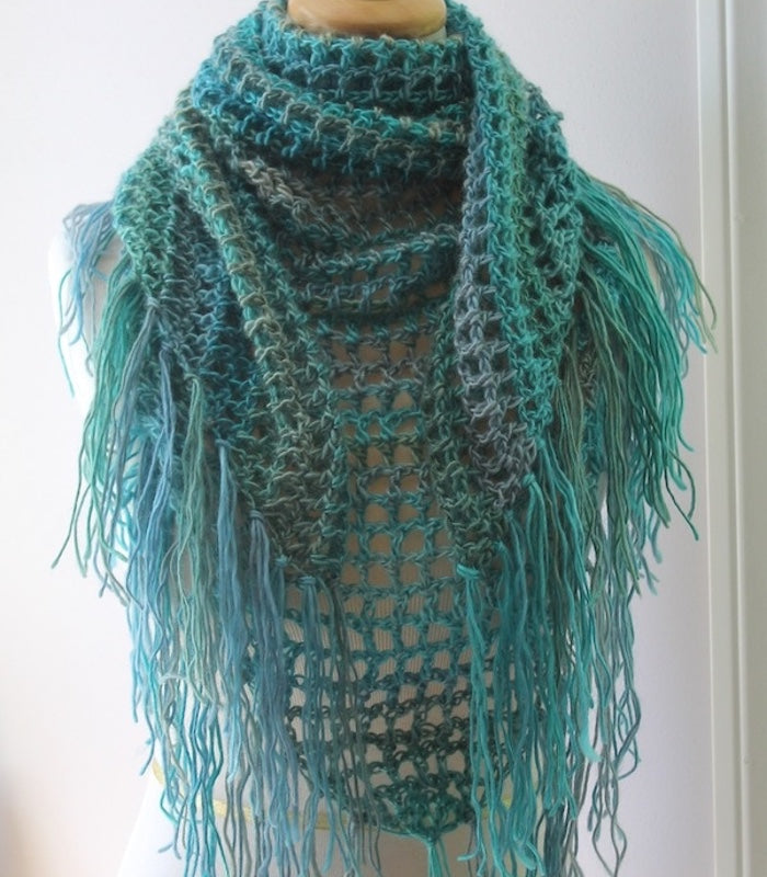 crochet pattern triangle scarf